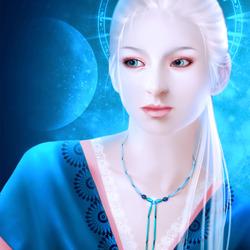 Пазл онлайн: Голубая луна