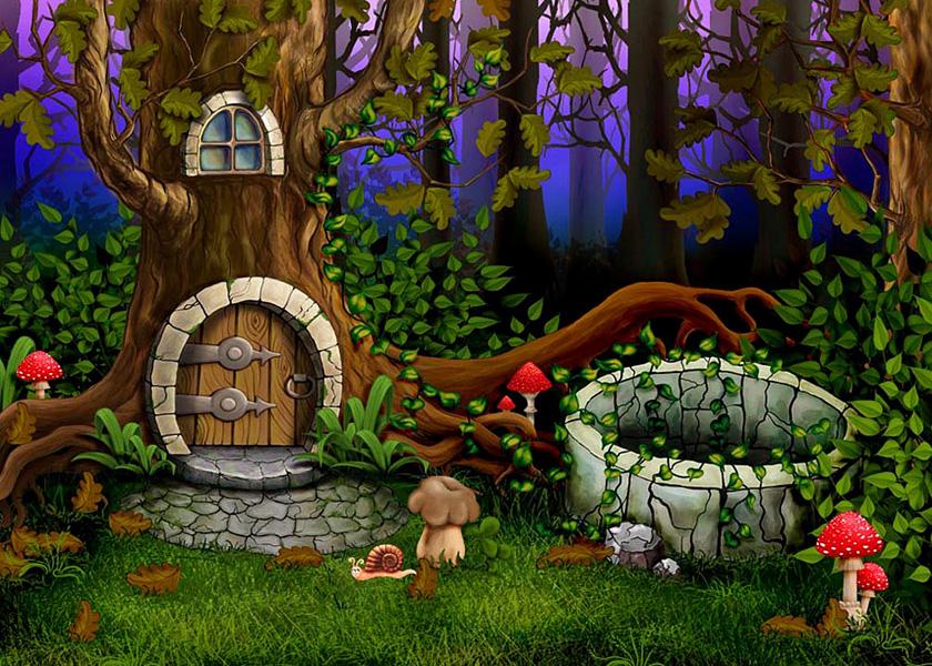 Сказочный лес открытка, прикольные