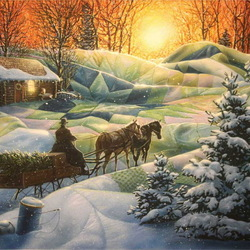 Пазл онлайн: Зимнее покрывало