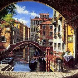 Пазл онлайн: Арка в Венеции