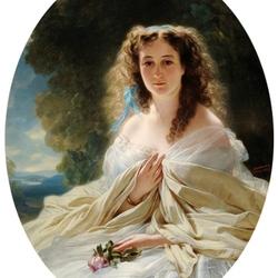 Пазл онлайн: Портрет княгини Олимпиады Владимировны Барятинской