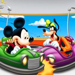 Пазл онлайн: Микки и Плуто