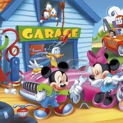 Пазл онлайн: Микки-автомеханик