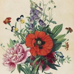Пазл онлайн: Ботанический букет