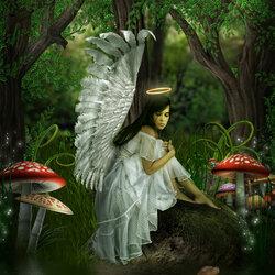 Пазл онлайн: Ангел в утешение