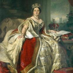 Пазл онлайн: Портрет королевы Виктории