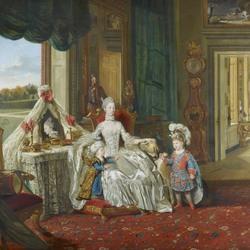 Пазл онлайн: Королева Шарлотта с двумя старшими сыновьями