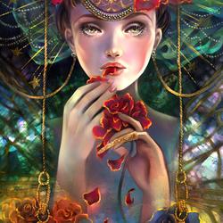 Пазл онлайн: Вкус розы