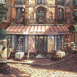 Пазл онлайн: Ресторанчик на углу