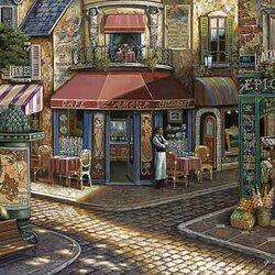 Пазл онлайн: Французская улочка