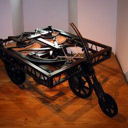 Пазл онлайн: Автомобиль Леонардо да Винчи
