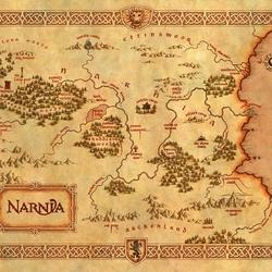 Пазл онлайн: Карта Нарнии