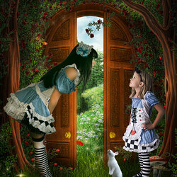 Пазл онлайн: Алиса против Алисы