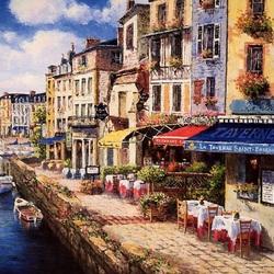 Пазл онлайн: Гавань в Онфлёре, Франция