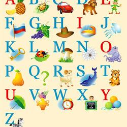 Пазл онлайн: Алфавит с картинками