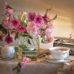 Пазл онлайн: Розовое настроение