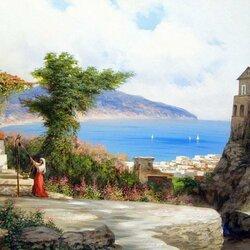 Пазл онлайн: Крымский пейзаж, Гурзуф