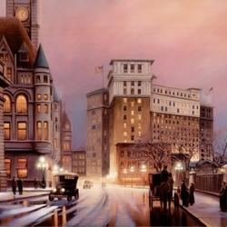 Пазл онлайн: Американский город