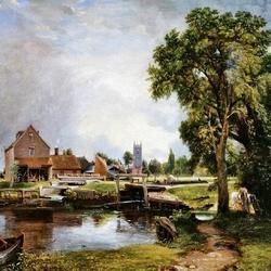 Пазл онлайн: Замок и мельница