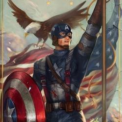 Пазл онлайн: Капитан Америка