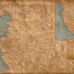 Пазл онлайн: Карта мира Анджея Сапковского