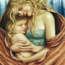 Пазл онлайн: Материнство