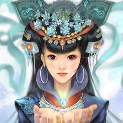 Пазл онлайн: Восточная девочка