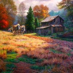 Пазл онлайн: Осенняя пахота
