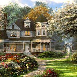 Пазл онлайн: Новый английский дом