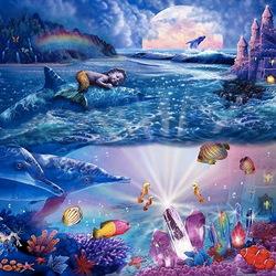 Пазл онлайн: Детская фантазия русалки