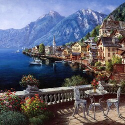 Пазл онлайн: Гальштат, Австрия