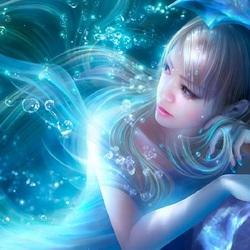 Пазл онлайн: Подводная красавица