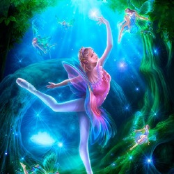 Пазл онлайн: Сказочный танец