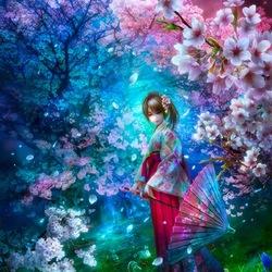 Пазл онлайн: Цветущий сад