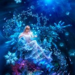 Пазл онлайн: Подводная принцесса