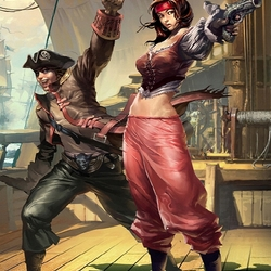 Пазл онлайн: Пиратки