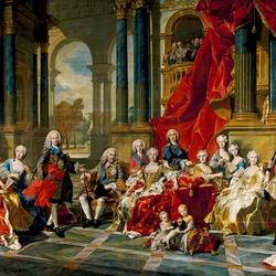 Пазл онлайн: Испанский король Филипп V с семьей