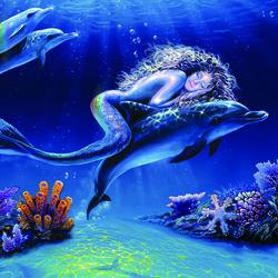 Пазл онлайн: Спящая русалка