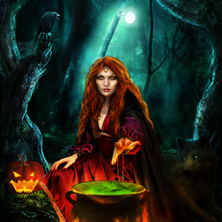 Пазл онлайн: Ведьмовство