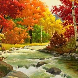 Пазл онлайн: Красавица-осень
