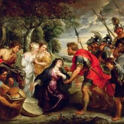Пазл онлайн: Встреча Давида и Авигеи