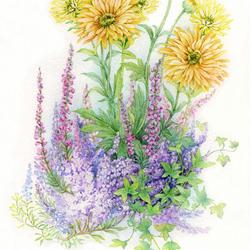 Пазл онлайн: Цветы в моем саду