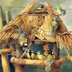 Пазл онлайн: Синичкин домик