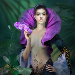 Пазл онлайн: Дикая орхидея