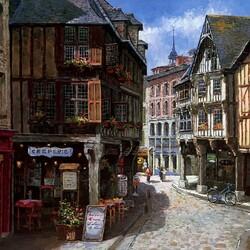 Пазл онлайн: День в Динаре, Франция