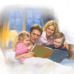 Пазл онлайн: Семейное чтение