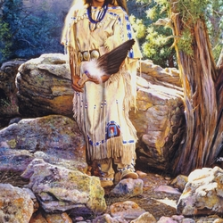 Пазл онлайн: Индейская девушка