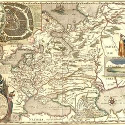 Пазл онлайн: Старинная карта Руси