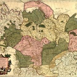 Пазл онлайн: Карта Тартарии (Сибири) 1706 года