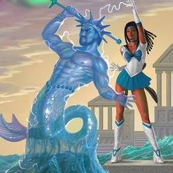 Пазл онлайн: Sailor Triton / Сейлор Тритон